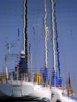 sailboat rippling