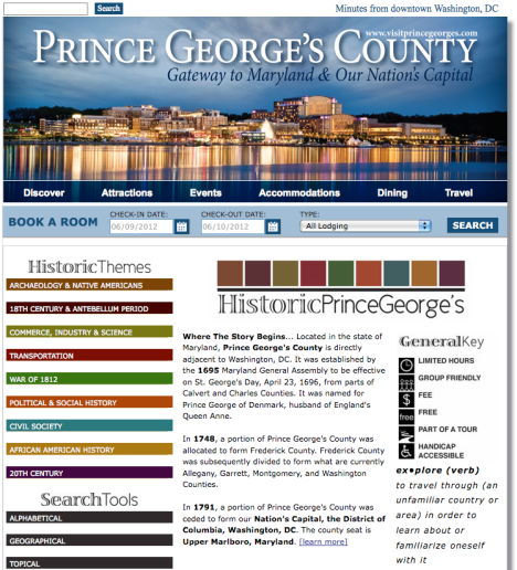 Historic Prince George's Website